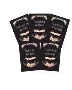 Premature Baby Milestone Cards - Chalkboard Floral