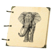 Scrapbook Photo Album Photo Book Birthday Wedding Anniversary Memory Book Mother's Day Gift Ldeas for Men Women Baby Travel Sketchbook Album Graduation Book Notebook Personality Baby Growth Photo Book Album Animal Elephant 1PCS(18.5X18.5CM)