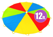 3.7m Play Parachute with 16 Handles - New & Improved Design - Multicoloured Parachute for Kids