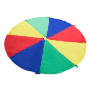 Parachute 1.8m Kids Play Parachute 8 Reinforced Handles Colours Rainbow Umbrella with Carry Bag for Tent Outdoor Games Toys