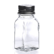Package of 6 Small Glass Shakers for Use with Spices, Craft Glitter and More