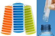 Easy Pop Out Ice Stick Tray - Great for Water Bottles - Pack of 3