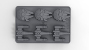 Star Wars Ice Cube Tray X-Wing & Millenium Falcon Undergroundtoys Kitchen Tableware