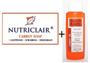 Nutriclair Carrot Lightening Scrubbing Soap 165g & Free First Lady Carrot Oil 400ml