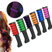 Hair Chalk Comb,ANGTUO Temporary Hair Colour Cream Dye Hair DIY 6Pcs