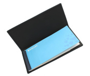 Ashlie Leather BUSINESS CHEQUE BOOK HOLDER AC1234 Black