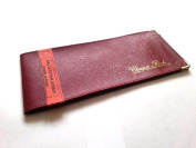 AKSHIDE Burgundy Folding Leather StyleCheque Book Holder /Leather Style Cheque Book Cover