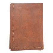 "Desert Town ""Oliver"" Genuine Leather Multi Pocket Vintage Brown Unisex Wallet 8.9cm"