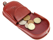 Visconti Horseshoe Design Leather Coin Tray Purse Wallet For Men & Women - TRY5