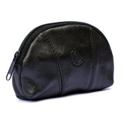 Mens and Ladies Soft Real Leather Coin Purse Bag One Zip