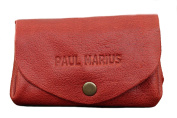 LE GUSTAVE coral purse in soft leather, coin purse with snap closure, vintage style pouch PAUL MARIUS