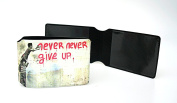 Mr Brainwash Never Never Give Up Oyster Card Holder