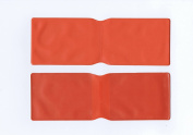 5 x Orange Plastic Oyster Card Wallet / Credit Card Holder / ID Card Wallet / Business Card Holder / Travel Pass Cover - MADE IN THE UK