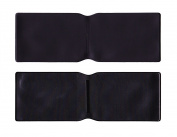 5 x Black Plastic Oyster Card Wallet / Credit Card Holder / ID Card Wallet / Business Card Holder / Travel Pass Cover - MADE IN THE UK