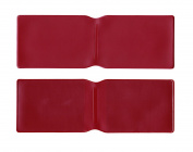 1 x Burgundy Plastic Oyster Card Wallet / Credit Card Holder / ID Card Wallet / Business Card Holder / Travel Pass Cover - MADE IN THE UK