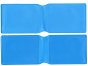 1 x Light Blue Plastic Oyster Card Wallet / Credit Card Holder / ID Card Wallet / Business Card Holder / Travel Pass Cover - MADE IN THE UK
