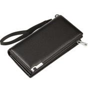 GGTFA Men's PU Leather Wallets Card Case Cash Holder Money Clip Organiser