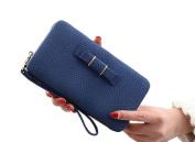 GGTFA Women's Leather Bows Clutch Phone Case Wallets Card Holder Purse