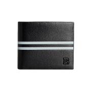 GGTFA Mens Blocking Stripe Slim Flipout Bifold Leather Wallet Card Holder