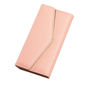 GGTFA Women Envelope Leather Wallet Button Clutch Purse Card Holder Organiser