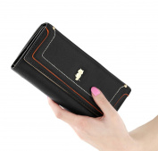 GGTFA Women's Leather Clutch Wallets Owl Pattern Card Holder Purse