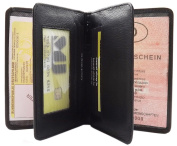 ID and credit card Buffalo Leather-- MJ Design Germany in different colours Black Nero