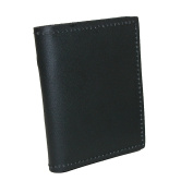 Boston Leather Leather Book Style Bifold Badge Holder Wallet
