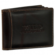 Luxury Leather Credit Card Holder Credit Card Case ID folder ID Holder Car Document Wallet Folder Brown BROWN