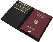 Calf leather passport case MJ-Design-Germany in 3 different colours