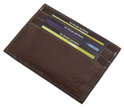 XL leather credit card case in 3 different colours
