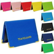 Green Soft Leather TRAVEL CARD Bus Pass Credit Card ID Card Wallet Cover Case Holder