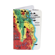 Map of California Treasures Business, Credit & ID Card Holder