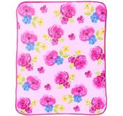 Just For Kids Kids Rose 130cm x 150cm Plush Throw Blanket, Pink/Fucshia/Blue/Yellow