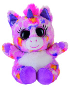 Heinrich Bauer Pia Blickfänger Lashy 14228 Glitter Unicorn Plush Toy, 15 cm Pink/Multicoloured