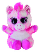 Heinrich Bauer 14230 - Glitter Eye-catching Lashy Unicorn Plush Toy, 15 cm, Pink