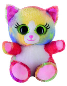 Heinrich Bauer 14239 - Eye-catching Glitter Lashy Cat Plush Toy, 15 cm, Multi-Coloured