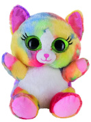 Heinrich Bauer Pia Blickfänger Lashy 14244 Glitter Cat Plush Toy, 20 cm, Multi-Coloured