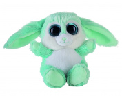 Heinrich Bauer 14237 - Eye-catching Glitter Bunny Plush Toy, 15 cm, Turquoise