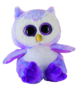 Heinrich Bauer 14232 - Eye-catching Glitter Owl Plush Toy, 15 cm, Purple