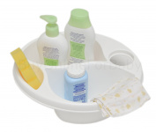 Baby Newborn Infant Bath Bathing Top and Tail Wash Bowl White