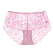 RRRRZ* Sexy underwear female lace temptation for larger SEXY UNDERWEAR, transparent 3 corner trousers, Lumbar engraving the usual zongzi ,M, colour