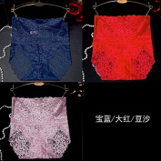 RRRRZ*Sexy underwear, temptation for larger lace underwear 3 corner trousers girls high back straight and tighten your abdomen underwear 3 installed ,M, / Blue / Red Colour usual zongzi