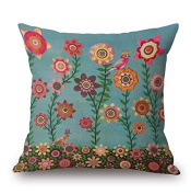 Madaye Landscape oil painting pillow flowers trees cushions pillow