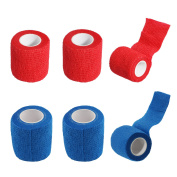 Adhesive Elastic Bandage Self Adhering Stick Athletic Tape Wrap/Vet Tape Wrap - 5.1cm Sports Power Wrap First Aid Tape for Sprain Swelling Wound Support and Medical Supplies, 6 Rolls