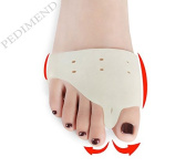 Pedimend Medical Silica Gel FOREFOOT PAD & TOE SEPRATOR (One Pair) with Holes - Ball of Foot Massage - Therapeutic Design - ball of foot pad gel Cushion - Support For Overlapping / Crooked / Hammer Toes / Corns / Calluses / Orthotic Cushion - Align / S ..