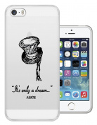 C0114 - Alice in Wonderland Is Only a Dream Design Case for iPhone 6 6S Fashion Trend Rubber Silicone Gel Case Cover
