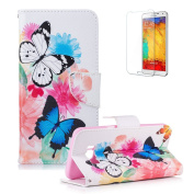 For Samsung Galaxy S8 Edge/S8 Plus Case [with Free Screen Protector], Funyye Stylish Premium Flip Magnetic Detachable PU Leather Wallet with Credit Card Holder Slots Smart Standing Folio Book Style Ultra Thin Nice Drawing Patterns Protective Case Cover ..
