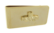 Gold Plated Irish Claddagh Symbol Money Clip