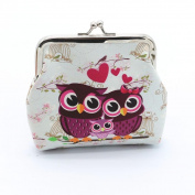 Sansee Women Lady Retro Vintage Owl Leather Small Wallet Hasp Purse Clutch Bag