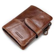 Mens' Wallet Genuine Cowhide Leather Credit Carder Holder Bifold Vintage Purse